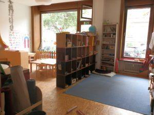 Der Gruppenraum mit Montessori-Ecke